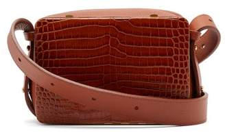Lutz Morris - Maya Crocodile Effect Leather Cross Body Bag - Womens - Tan