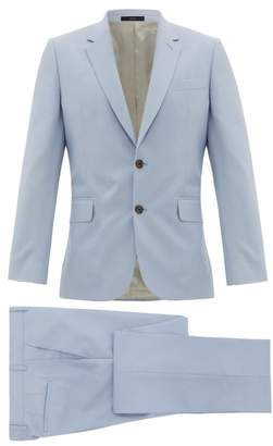 Paul Smith Soho Fit Single Breasted Wool Blend Suit - Mens - Light Blue