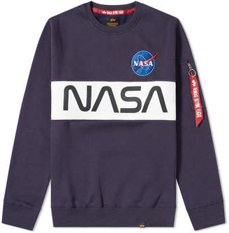 Alpha Industries NASA Inlay Crew Sweat