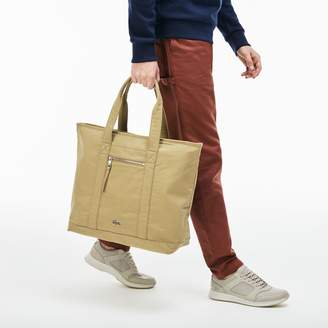 Lacoste Men's Summer Faded Cotton Large Zip Tote Bag