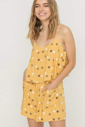 ALL IN FAVOR DIPPIN DOTS ROMPER