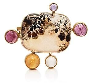Judy Geib Women's Mixed-Gemstone Pin - Gold