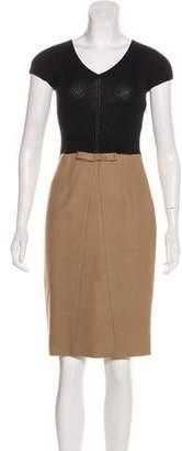 Paule Ka Virgin Wool Colorblock Dress