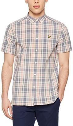 Lyle & Scott Men's Ss Check Shirt Casual (Dusty Pink Z261)