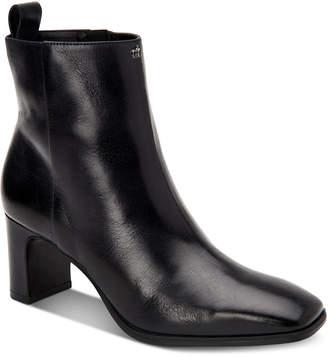 Calvin Klein Deni Leather Booties Women Shoes
