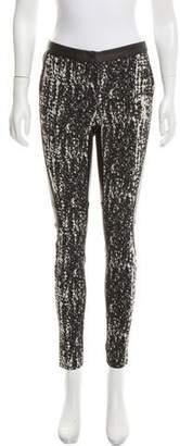 Diane von Furstenberg Dorthia Leather Mid-Rise Pants