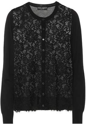 Dolce & Gabbana Lace wool and cotton-blend cardigan