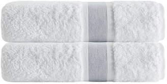 Enchante Set Of 2 Unique Silver Stripe Bath Towels