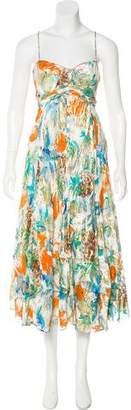 Diane von Furstenberg Printed Silk-Blend Midi Dress
