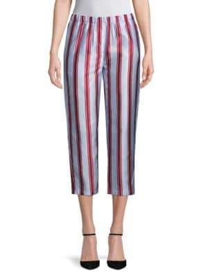Burberry Striped Pull-On Pants