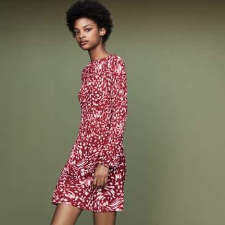 Maje Pleated dress in novelty print