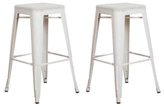 "Vogue Furniture Direct Barstool 30"" backless top mesh metal Stools WHITE (Set of 2) VF1571016"