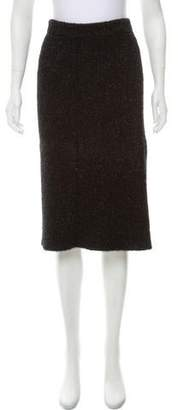 Calvin Klein Collection Textured Knee-Length Skirt