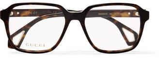 Gucci Square-Frame Tortoiseshell Acetate Optical Glasses - Men - Tortoiseshell