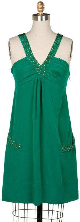 MADISON MARCUS Emerald Studded Mini Dress