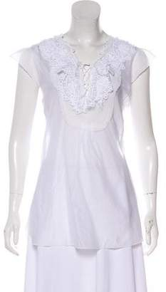 Ermanno Scervino Lace-Trimmed Sleeveless Top