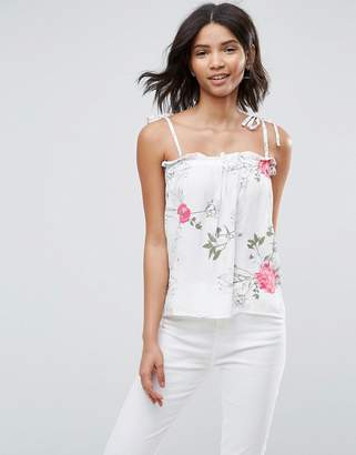 Pieces Emi Floral Print Cami Top