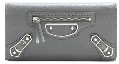Balenciaga Balenciaga Metallic Edge Money Flap Leather Wallet