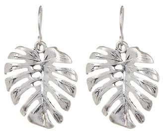 The Sak Palm Leaf Drop Earrings