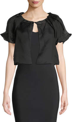 Chiara Boni Kiva Cropped Puff-Sleeve Topper Jacket