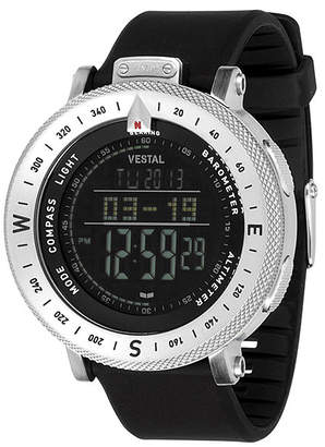 "Vestal Water-Resistant Sport Watch with Compass & Barometer ""Guide"""