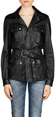 Saint Laurent Women's Leather Safari Jacket - Black