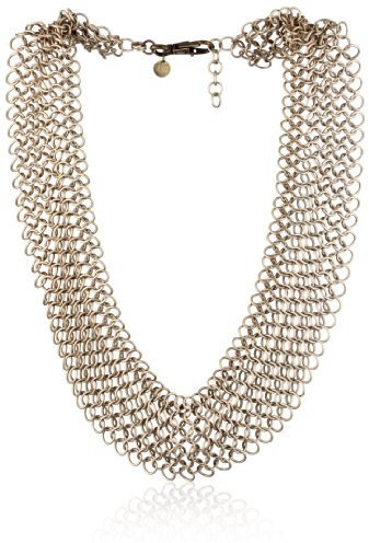 LUV AJ Champagne Chainmaille Bib Necklace