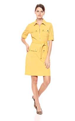 Sharagano Women's 3/4 Sleeve Shirtdress