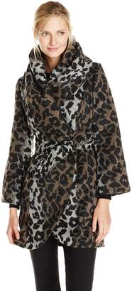 T Tahari Women's Marla Wool Wrap Coat