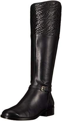 Cole Haan Women's Genevieve Boot Riding Leather/Black Weave
