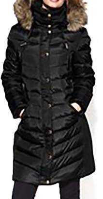 Michael Kors Women's Mid-Length Down Coat with Zip-Out Hood-M