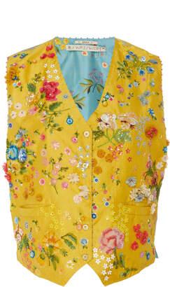 Péro Embroidered Silk Waistcoat