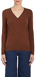 Barneys New York Women's Cashmere V-Neck Sweater - Brown