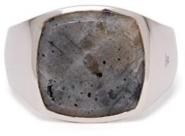 Tom Wood - Larkvite Sterling Silver Signet Ring - Mens - Silver