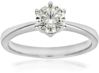 N. Naava EGL Women's 18 ct Yellow Gold 0.8 ct Certified Diamond Solitaire Engagement Ring, Size J, HSI3
