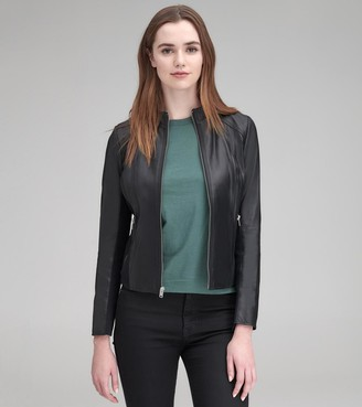 Andrew Marc KYLIE LEATHER RACER JACKET