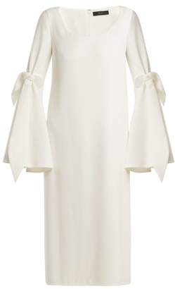 Ellery Cindy Cut Out Midi Dress - Womens - Ivory