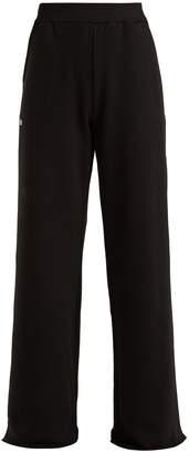 MSGM Wide-leg cotton-jersey track pants