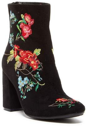 Godiva Stacey Embroidered Floral Zip Bootie