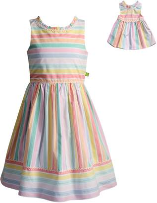 Dollie & Me Girls 4-14 Striped Dress Set