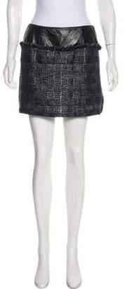 Theyskens' Theory Virgin Wool-Blend Mini Skirt w/ Tags