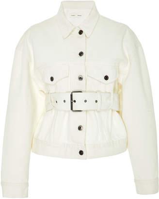 Proenza Schouler PSWL Belted Denim Flap Pocket Jacket