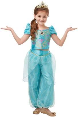 Rubie's Costume Co Girls Glitter Sparkle Jasmine Fancy Dress Costume - Green
