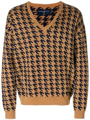 Natural Selection houndstooth knit jumper