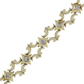 One Kings Lane Vintage 9k Yellow Gold 0.20ctw Diamond Bracelet