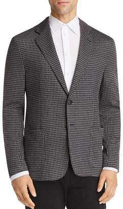 Emporio Armani Houndstooth Pattern Regular Fit Sport Coat
