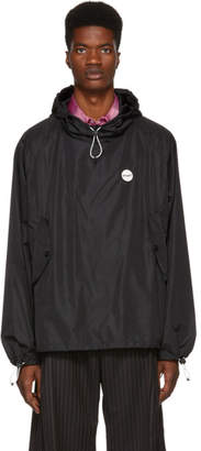 MSGM Black Hooded Anorak Jacket