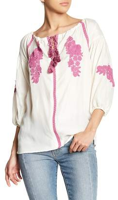 Line & Dot Alicia Off-the-Shoulder Embroidered Blouse