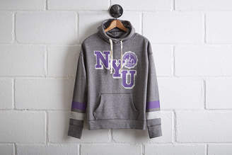Tailgate Women's NYU Violets Cowl Neck Hoodie