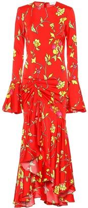 Caroline Constas Monique floral silk-blend midi dress